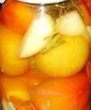 Консервированные помидоры с лимонной кислотой