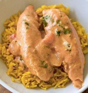 Сливочная курица с рисом басмати по-индийски