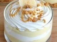 Бананово-карамельный десерт с кремом