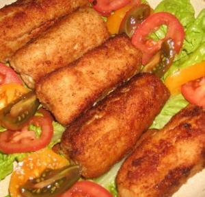 Жареные колбаски из фарша