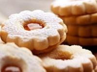 Песочное пирожное с фруктовой начинкой