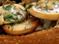 Хрустящие лодочки с грибами