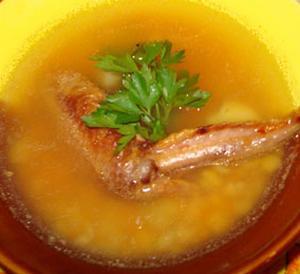 Суп гороховый с курицей