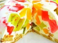 Желейно банановый торт Битое стекло